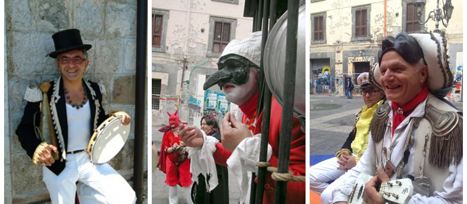 Foto di persone scattate nei vicoli di Napoli