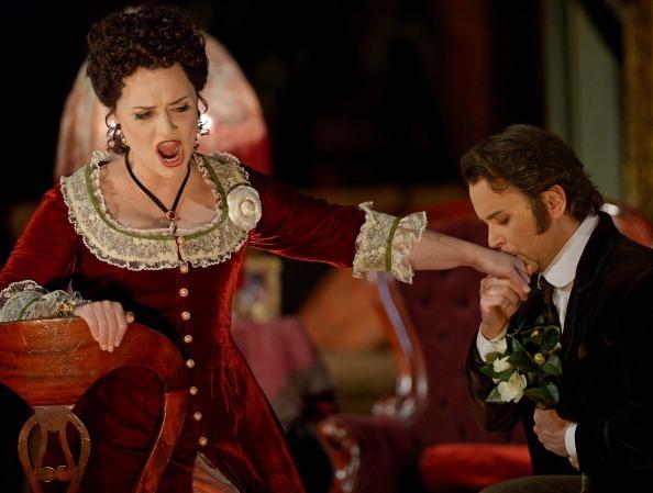 """scatto tratto dalla rappresentazione de """"La Traviata"""""""