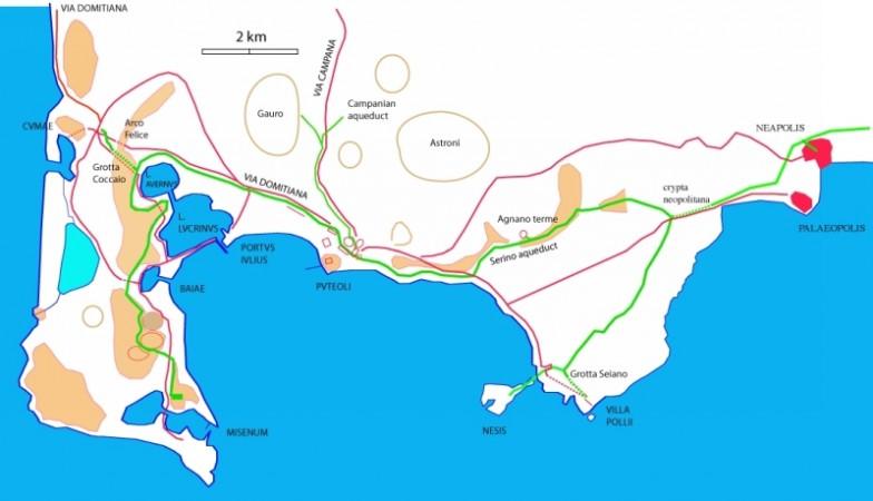 cartina geografica Puteoli, Nola, Atella, Neapolis, Cuma, Acerra, Baia, Miseno