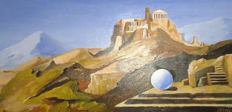 Sfera_con_paesaggio_dipinto_di_sarossa