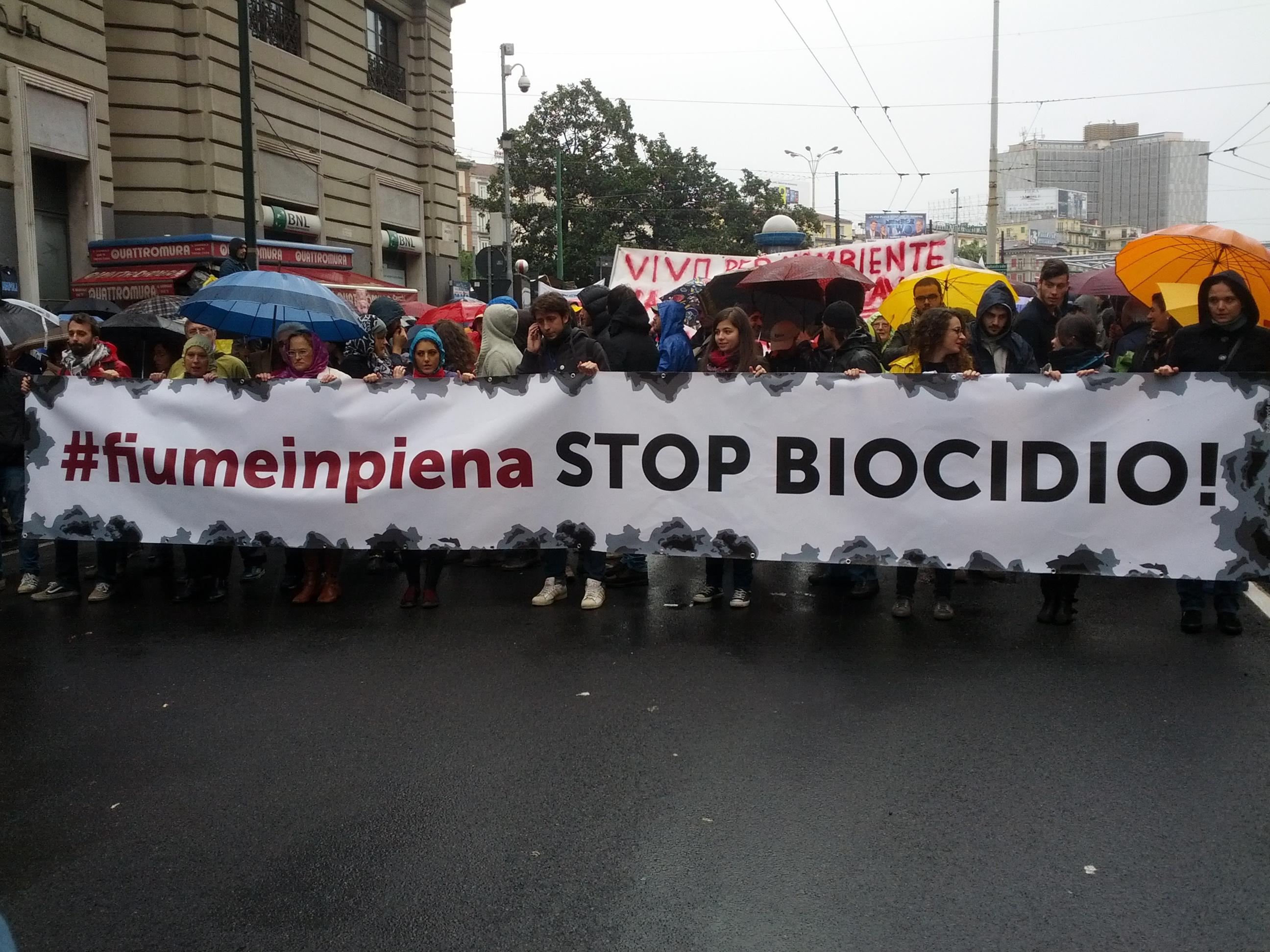 manifestazione biocidio