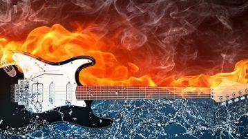 chitarra con fiamme