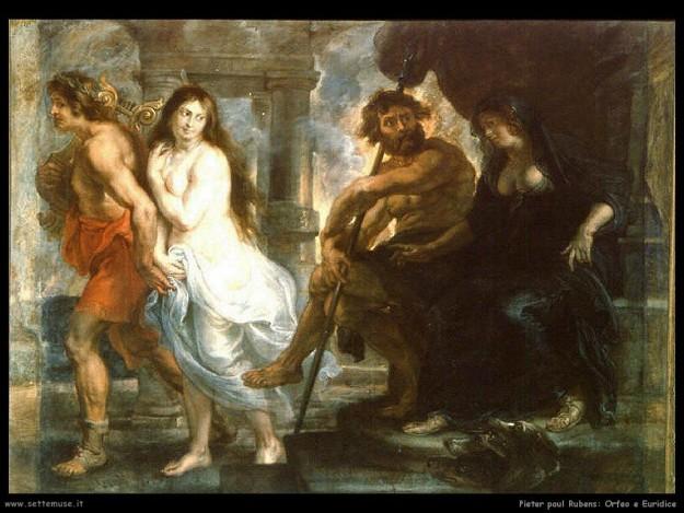 Euridice e Orfeo Rubens