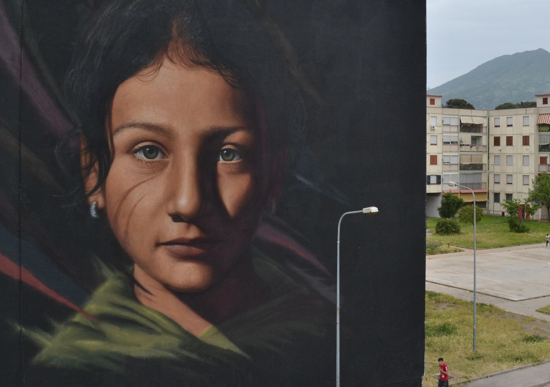 murale della bambina di Ponticelli