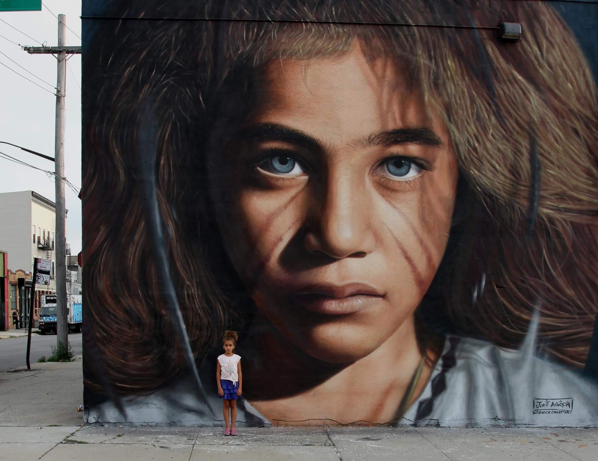 murale di Jorit Agoch