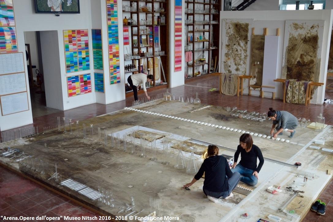 Arena.Opere dall'opera. Museo Nitsch 2016 - 2018 © Fondazione Morra