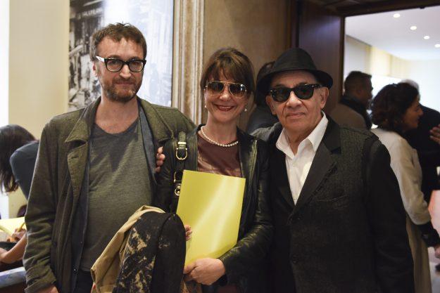 da destra Alfredo Arias, Gaia Aprea e Mauro Gioia CONFERENZA STAMPA STAGIONE 16-17 TEATRO STABILE DI NAPOLI 13 APRILE ROMA-0051