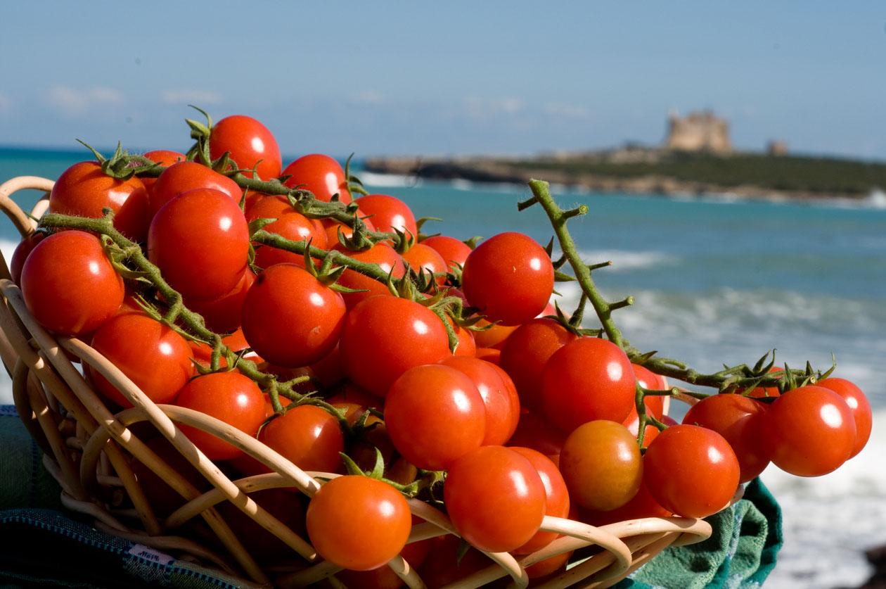 cestino di pomodori