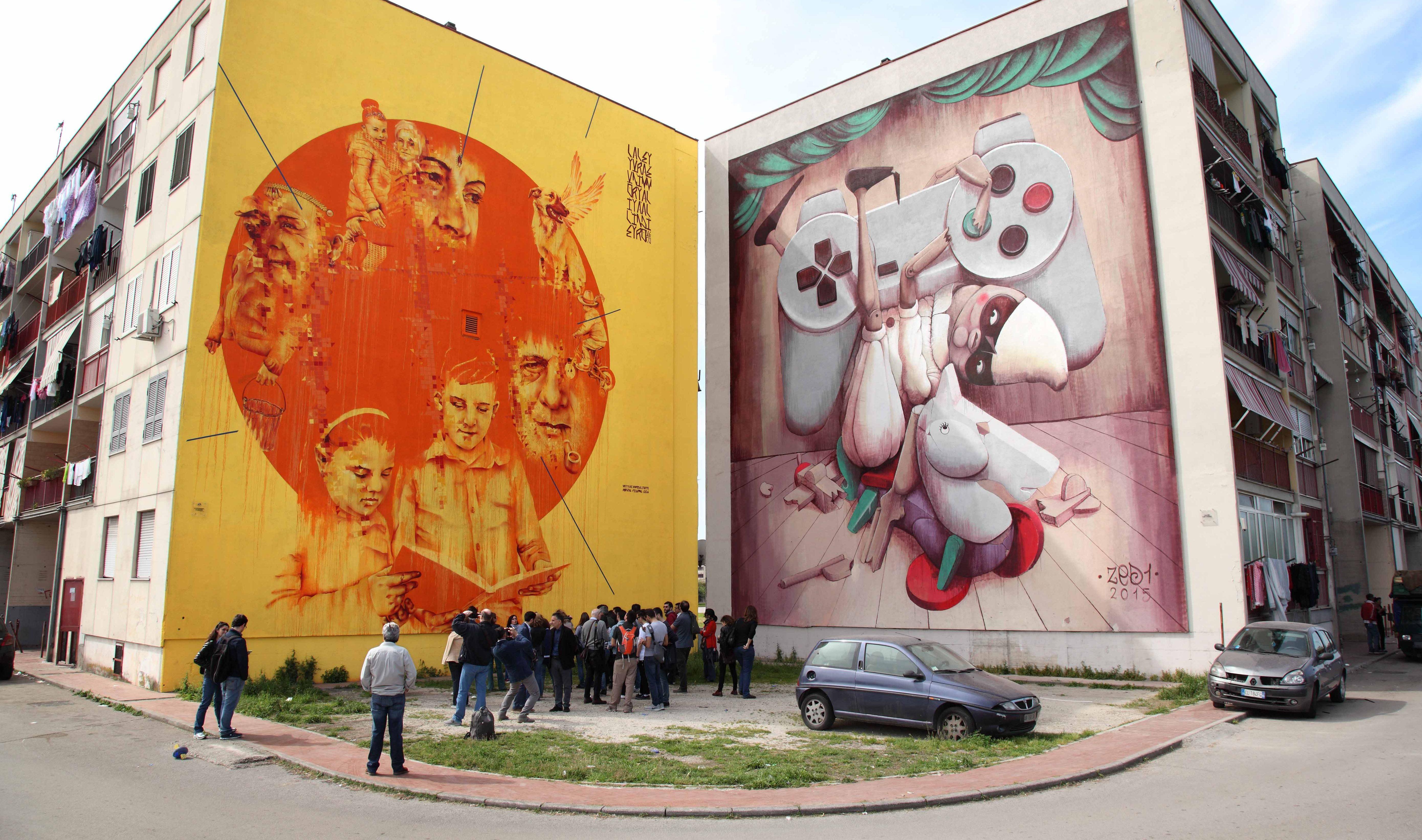 murales a ponticelli