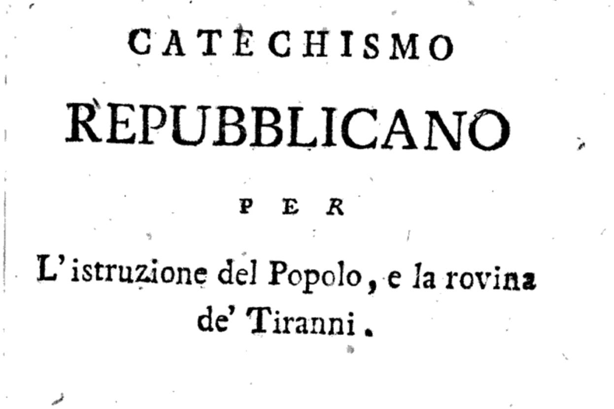 frontespizio del catechismo repubblicano