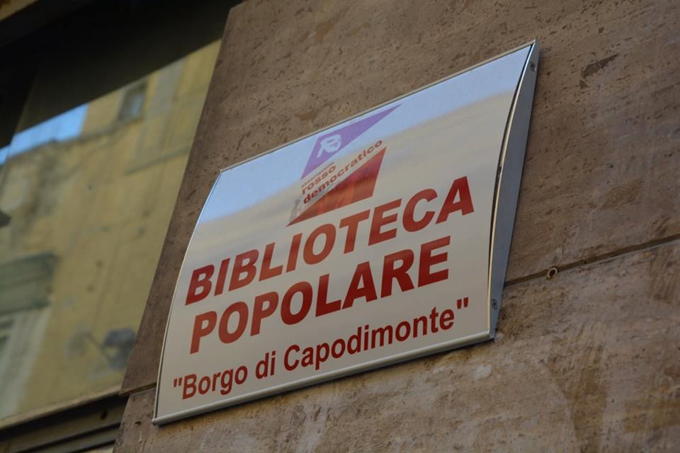 targa biblioteca popolare