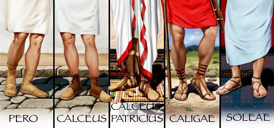 calzature antica roma