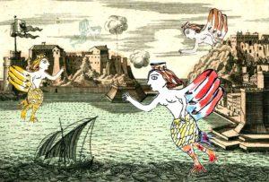 """<p>""""Tanto tempo fa, sulle pacifiche isole del Mediterraneo, vivevano degli esseri metà donne e metà uccelli. Ma queste creature furono cacciate dalle isole verdeggianti e spinte a vivere sulle coste, dove la terra finisce e inizia il mare. Da allora viaggiano per il Mediterraneo, cercando scogli e città più adatte a loro&#8230;"""" Trentaremi e l'associazione [&hellip;]</p>"""