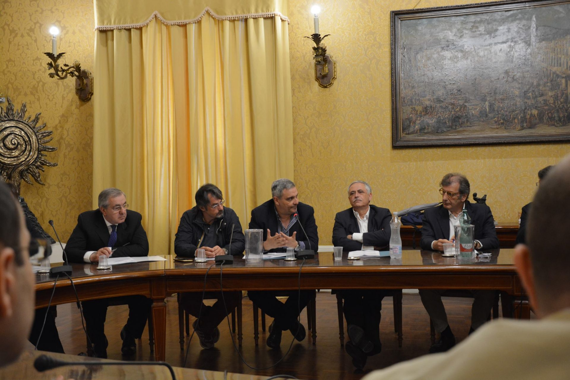 conferenza stampa napoli città libro
