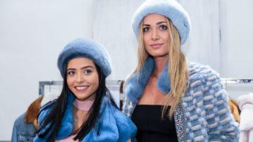 lady azzurre in pelliccia