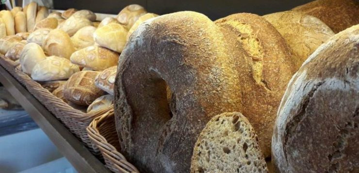 pane con l'acqua di mare