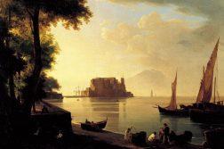 Napoli Castel dell'Ovo dalla spiaggia- A. Pitloo
